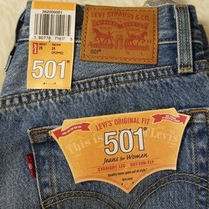 9014d618ec1 Levi's Jeans | Nwt Levis 501 Crpped Jean You Pretty Thing Sz 26 ...